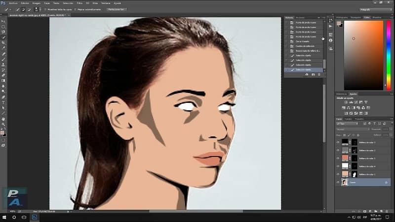 editar caricatura en photoshop