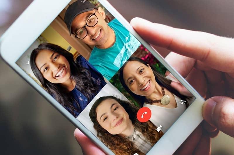 videollamada grupal en whatsapp