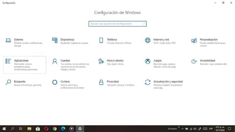 configuracion windows