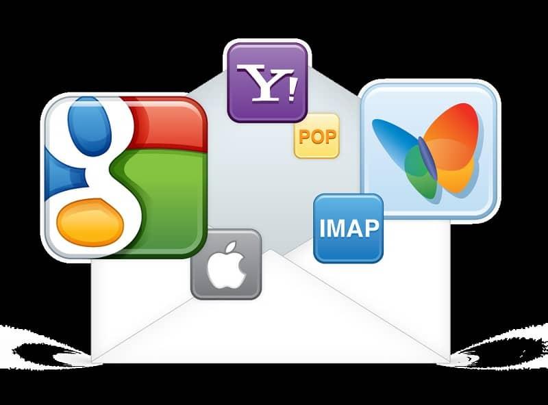 diferentes correos electronicos