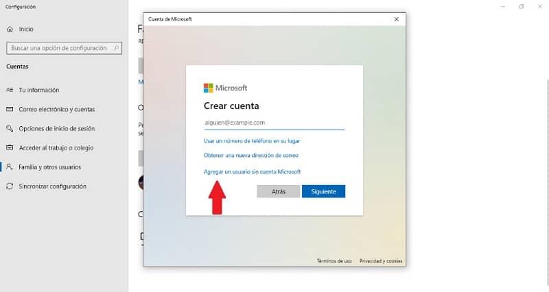 agregar nueva cuenta usuario windows 10