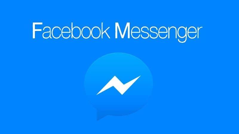 messenger movil fondo azul