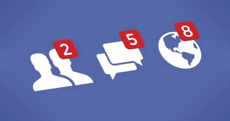 distintas solicitudes en facebook