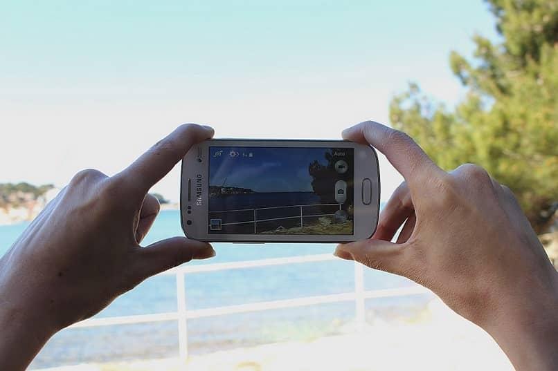 tomar foto paisaje movil