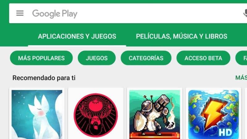 google play store aplicaciones