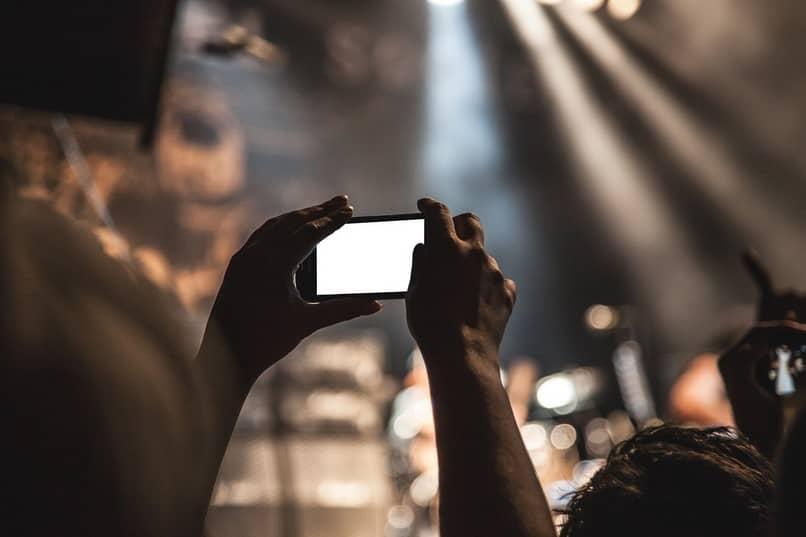 hacer foto concierto