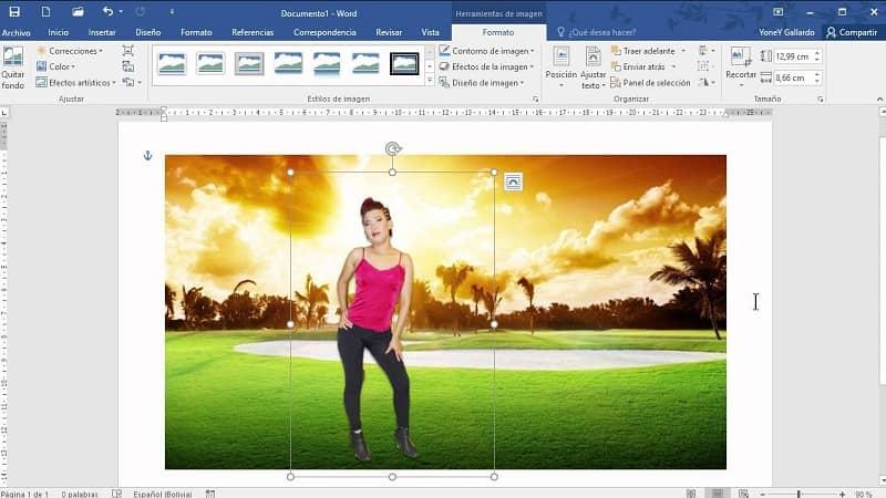 crear un fotomontaje en word