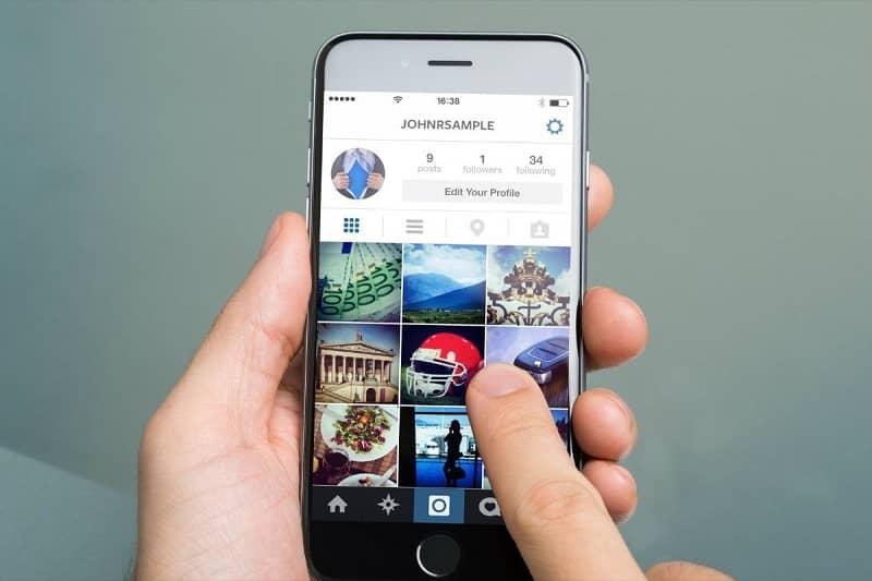 navegando instagram
