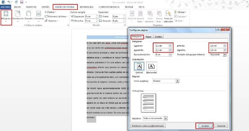 crear margenes en word para cuartillas