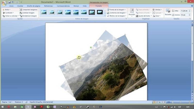 herramientas de word para modificar fotomontajes