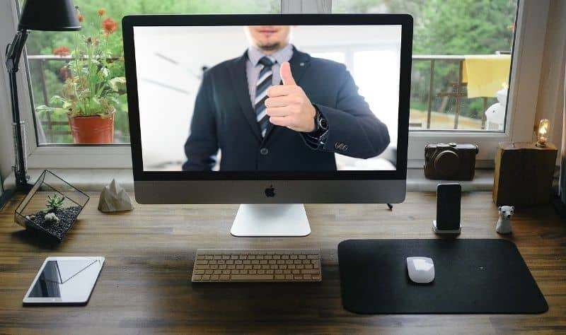 monitor video oficina