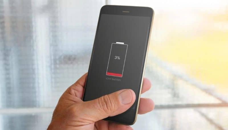 bateria baja movil encendido