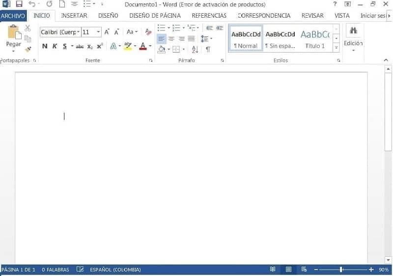 inicio word