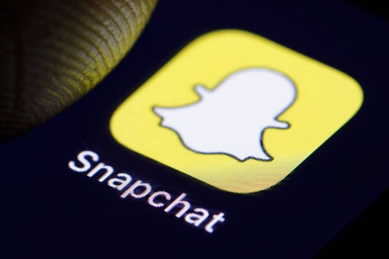 inicio aplicacion snapchat movil