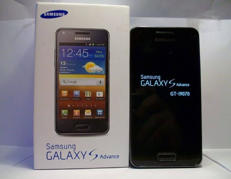 samsung galaxy s advance con caja