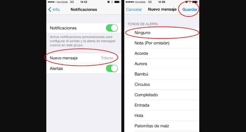 mensaje silenciado whatsapp