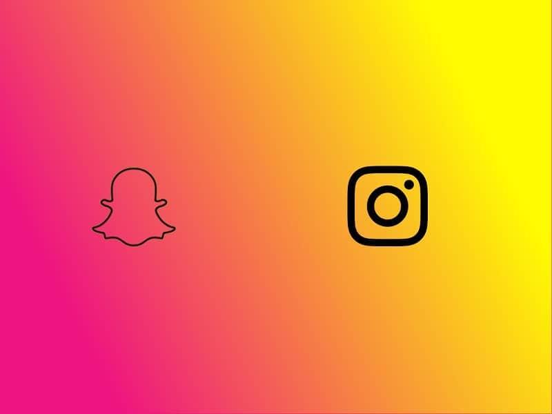 snapchat y instagram
