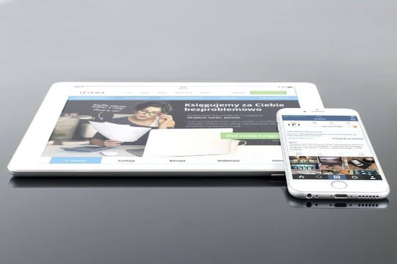 tablet movil con instagram