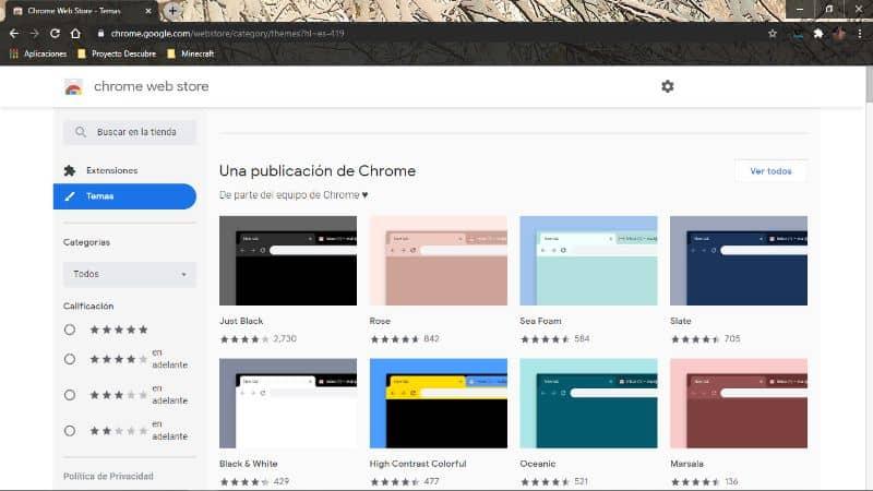 personalizar google chrome