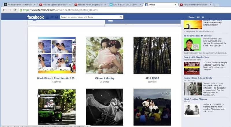 albumes de fotos en facebook