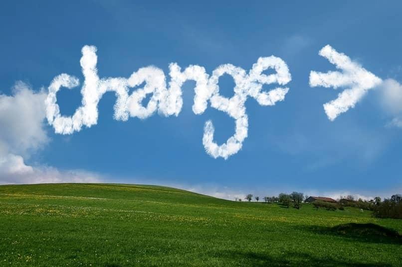 crear cambio flecha
