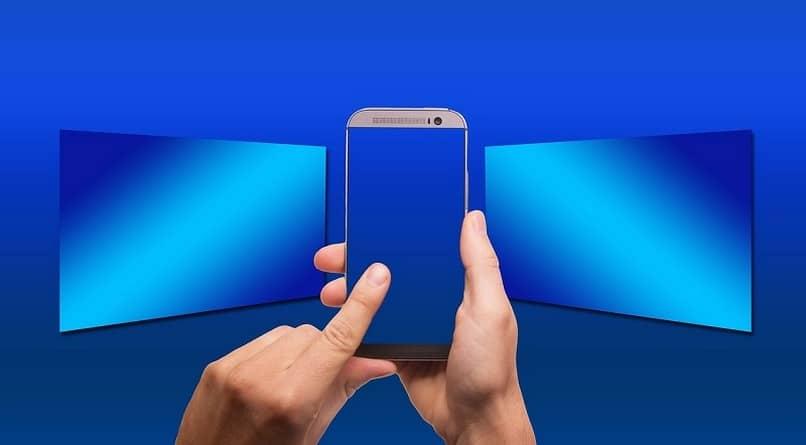 dedo pulsando celular