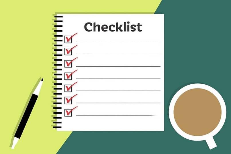 seleccionar checklist