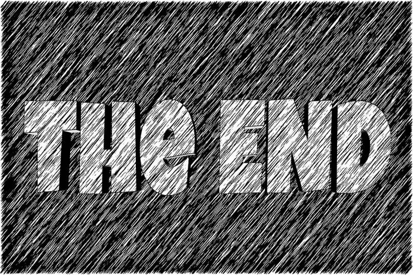 the end pizarra