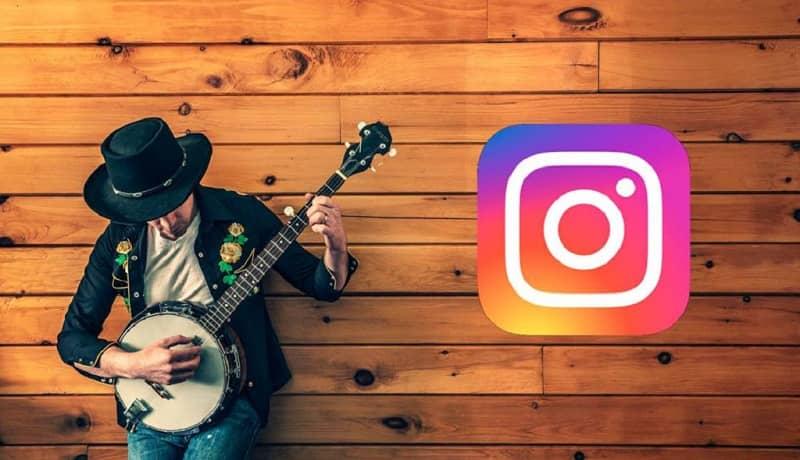 musico tocando para instagram