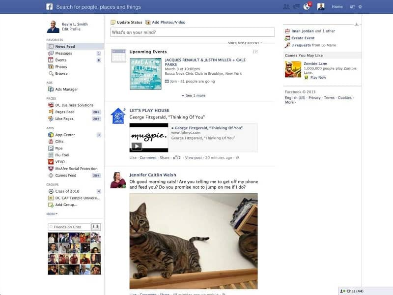 inicio facebook