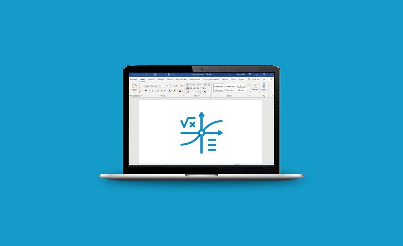 escribir formulas a mano en word