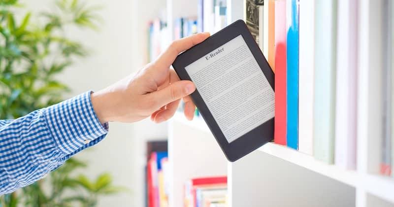 libro electronico en tablet