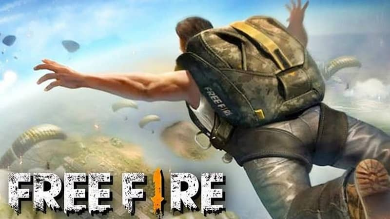 logo free fire personaje paracaidista