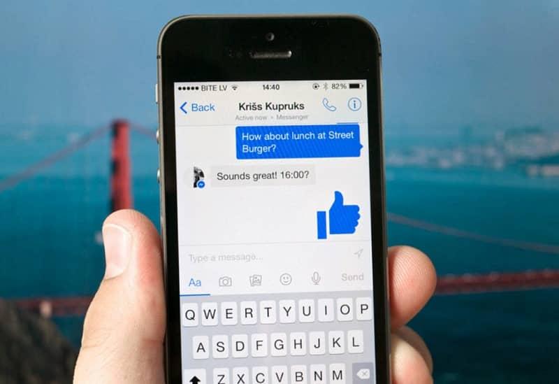 mensaje no leido facebook messenger