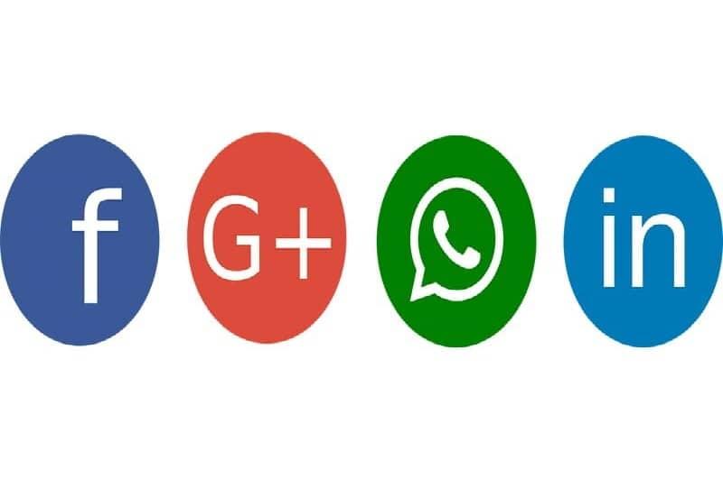 redes sociales linkedin facebook twitter