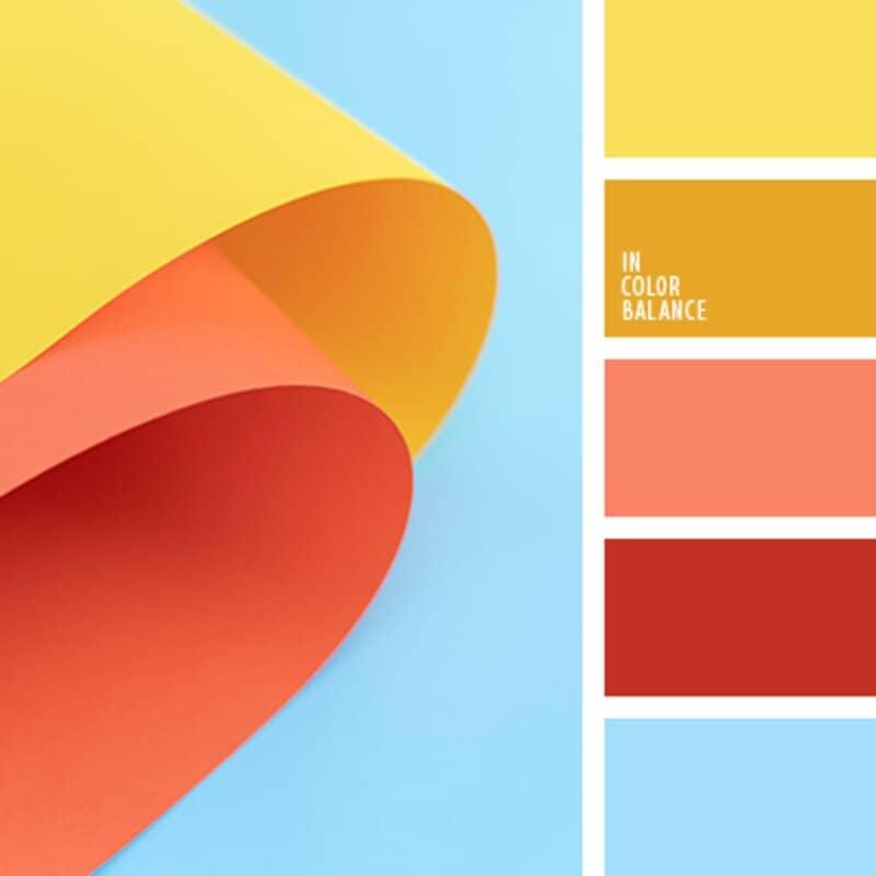 tonos suaves en paleta de colores